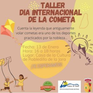 ¡VEN Y DISFRUTA DEL TALLER DE COMETAS!