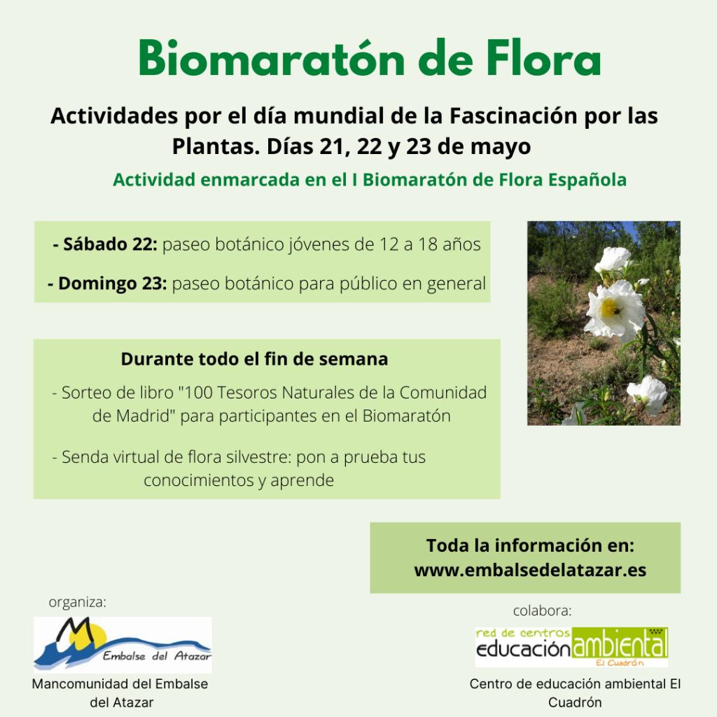 Actividades Biomaratón de Flora Mancomunidad Embalse del Atazar